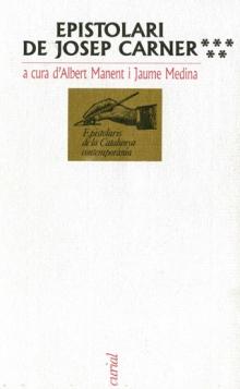 Epistolari de Josep Carner